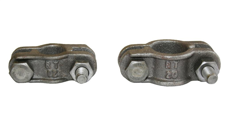 Two piece hose clamps
